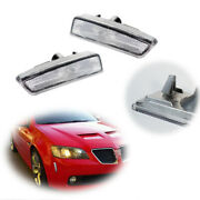 For 2008 2009 Pontiac G8 Gt Gxp Front Bumper Side Markers Clear Lamps Pair Lh+rh
