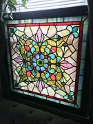 Victorian Stained Glass Window 117 Years Old.