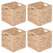 Foldable Storage Basket Purely Hand‑woven Storage Baskets Corrosion‑resistant