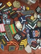 Huge Collection Military Old Badges Etc Items As Shown.