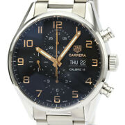 Tag Heuer Carrera Day Date Chronograph Steel Automatic Watch Cv2a1ab Bf533605