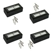 4x Heavy Duty 4 Way Bus Bar Power Post Junction Block With Screw On Cover