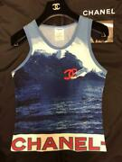 Vintage 02s Surfing Cc Logo Tank Top From Japan Fedex No.1027