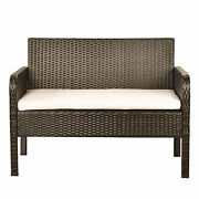Style 4 Piece Rattan Sofa Seating Group With Cushions, Outdoor Ratten Sofa