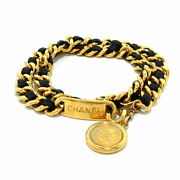 Belt Chain Belt Coin Gold Metal Material Previously Owned No.8885