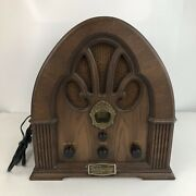 Vintage 1972 Limited Edition 1930s Philco Ford Cathedral Wooden Radio R89 Works