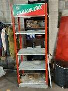 Vintage Canada Dry Ginger Ale Soda Display Rack W/ 5 Shelves Signs Advertiding