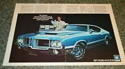 ★★1971 Oldsmobile 442 W30 And039and039dr Oand039and039 Original Advertisement Ad 71 Cutlass 455 Blue