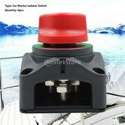 6pcs Car Dual Battery Selector Switch Isolator 3 Speed For Marine Boat 60a