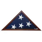 Usmilitarystuff 5and039 X 9.5and039 Flag Case - Made In Usa - Realistic Cherry Finish