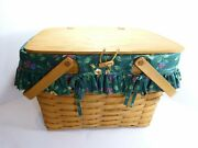 Longaberger Picnic Basket 1995 With Accessories