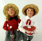 Byers Choice Carolers Valentine Boy And Girl 2013 Lot Of 2