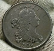 1806 Draped Bust Half Cent - Nice Coin, Free Shipping 614