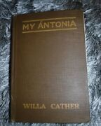 My Antonia Hardcover By Willa Cather And W T Benda Vintage 1918 Houghton Miffli