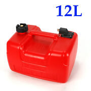 12l Portable Outboard Boat Marine Fuel Gas Tank W/ Male Connector+fuel Line Usa