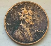 Us 1940 S Lincoln Head Wheat Penny One Cent Circulated Coin D57