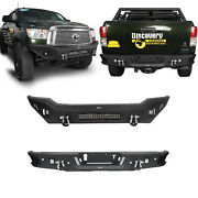 Durable Steel Front + Rear Bumper Combo W/led Lights For 2007-2013 Toyota Tundra
