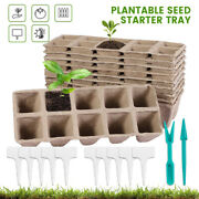 20x 10cell Seed Starter Trays Pots Biodegradable Seedling Starter Plant W/labels
