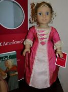 Pristine Elizabeth American Girl Doll In Box W Meet Outfit And Accessories