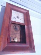 Rare Vintage 1864 Waterbury 8 Day 30 Hour Clock Weighted For Fixing Or For Parts