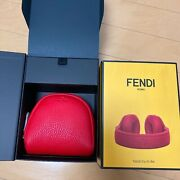 Fendi Beats By Dr. Dre Collaboration Headphone Other Leathe 7ar435-1rm Red New