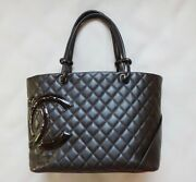 Cambon Line Shoulder Bag Gm Women And039s Tote Hand Dark Brown No.193