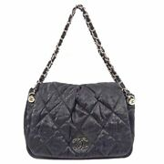 Matelasse Quilting 2way Chain Shoulder Bag Women And039s Black No.2073