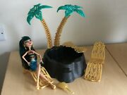 Monster High Doll Cleo De Nile 13 Wishes Desert Frights Oasis Playset