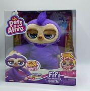 Pets Alive Fifi The Flossing Sloth Dances 3 Epic Songs Zuru Age 3+ New 2020