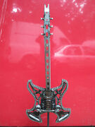 Unique Custom Steel Guitar Sculpture Made From Car Parts Art 42 And 57 W/ Stand