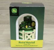 John Deere Tractor 7410 Musical Waterball Down By The Old Mill Stream Snow Globe