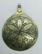 Extremely Rare Ancient Old Sun Amulet Color Silver Protecting Artifact Authentic