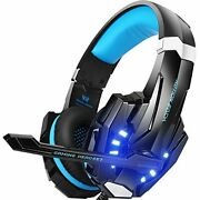 Gaming Headset Professional 3.5mm Pc Led Light Game Bass Headphones Stereo Noise