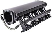 Jegs 513066 Fabricated Intake Manifold For Gm Ls3 And L92 [black Aluminum]