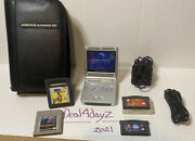 Gameboy Advance Sp W/ Charger And Carrying Case Star Wars Mortal Kombat Nba Kobe