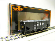 Mth Ho Scale Norfolk And Western 55 Ton Steel Twin Hopper 87289 Car 80-97097 New
