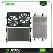 Engine Radiator Condenser Cooling Fan For 2007 2008 2009 2010 2011 Lincoln Mkx