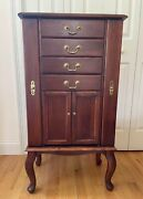 Ethan Allen Georgian Court Jewelry Armoire Cabinet Jewelry Chest Drawer Gorgeous