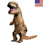 T-rex Dinosaur Inflatable Dino Costume Outfit Suit For Adult Kids Cosplay Party
