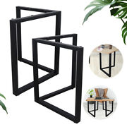 2pcs 28 Diy Industry Table Desk Leg Metal Steel Legs With Screw And 4 Mats Usa