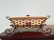 Longaberger 2007 Heritage Days Basket Collection Combo With Stand Very Rare