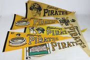 Vintage Lot Of 6 Pittsburgh Pirates 1960s-70s Pennant Banners, 1971 World Champs