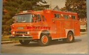 Vintage Large 8.5 By 5.58 Postcard Swab Ambulance And Rescue Equipment Ford Fire