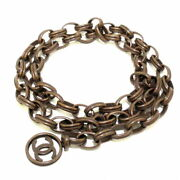 Belt Bronze Chain Belt Coco Mark Metal Material Previously Owned No.8480