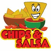 Chips And Salsa 48 Concession Decal Sign Cart Trailer Stand Sticker Equipment