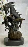 Maiden Of The Dragon`s Axe Bronze Statue Hot Cast Figurine Marble Base Sculpture