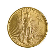 1914 20 Gold St. Gaudens Choice Nearly Mint State Very Scarce Date Gold Coin