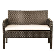 Style 4 Piece Rattan Sofa Seating Group With Cushions, Outdoor Ratten Sofa G1