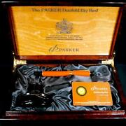 Parker Fountain Pen Limited 2005 Duofold Big Red No Ink Orange 18k Nib M Pm0855