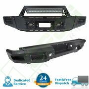 Off-road Heavy Duty Front Rear Bumper W/ Led Light And D-rings For 09-14 Ford F150